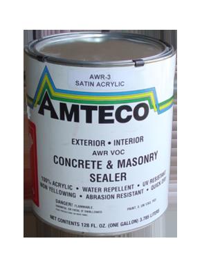 Amteco awr 3 concrete masonry sealer exterior or interior - Exterior concrete block finishes ...
