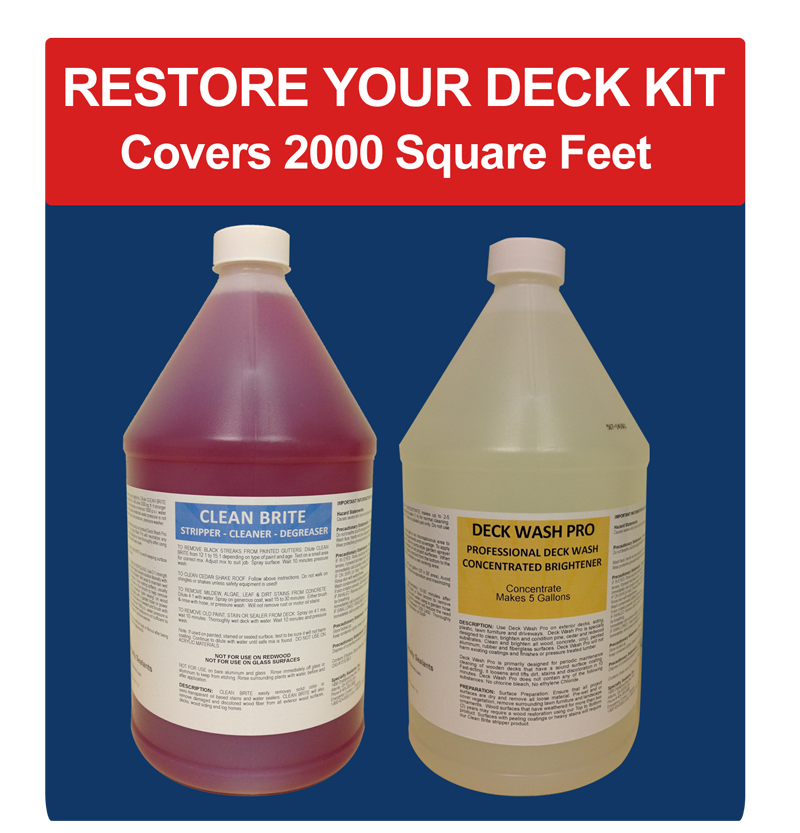 Restore your deck cleaner and stripper for wood decks for Revive deck cleaner